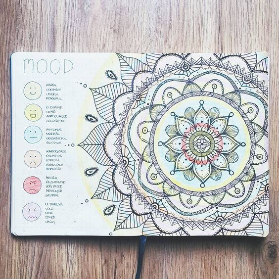 mood mandala for your bullet journal