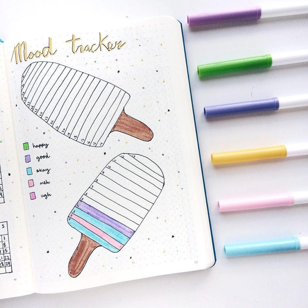 popsicle bullet journal mood tracker