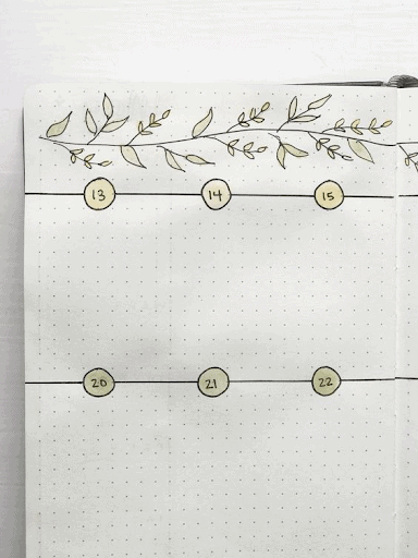 productive  bullet journal weekly spread