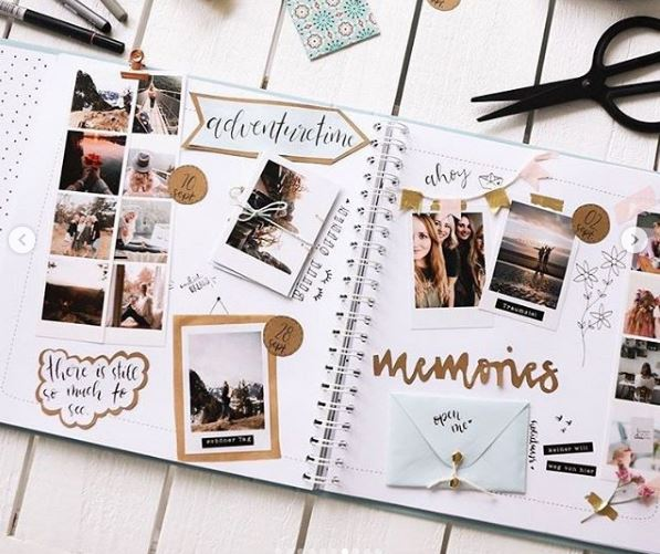 travel journal with envelope
