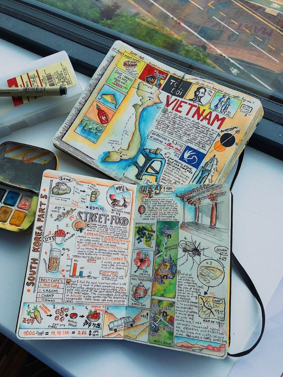 illustrated travel diary