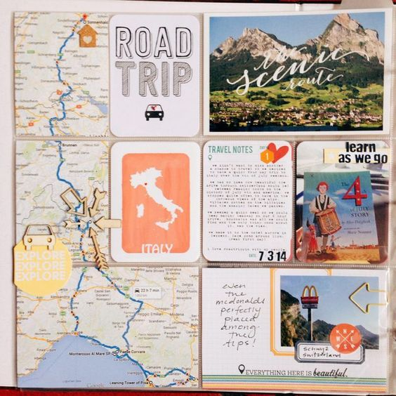 Road Trip Travel notebook