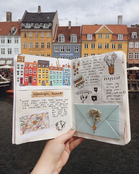 cute travel journal layout