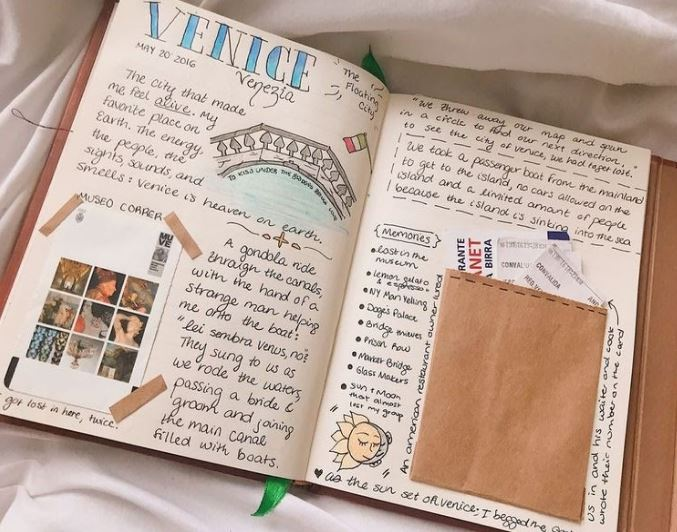 travel journal with pockets