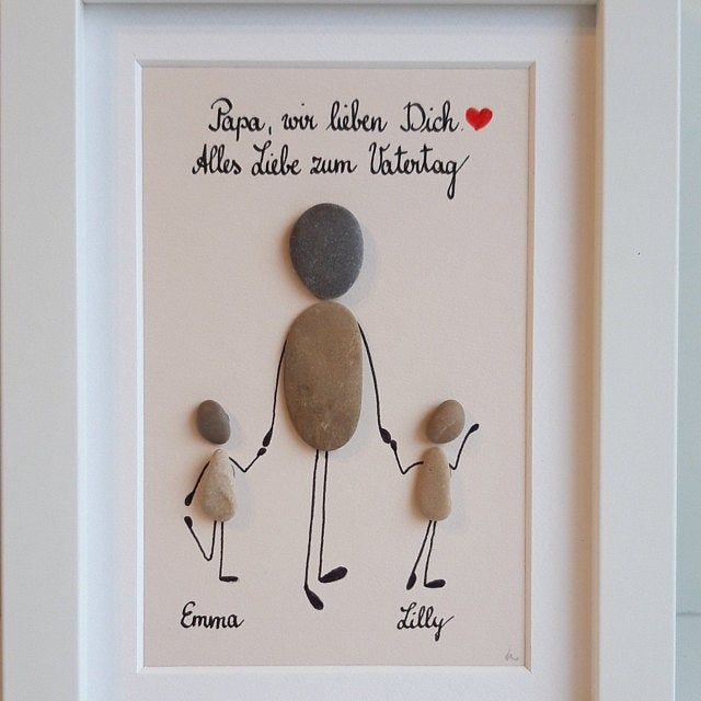 pebble family fathers day card