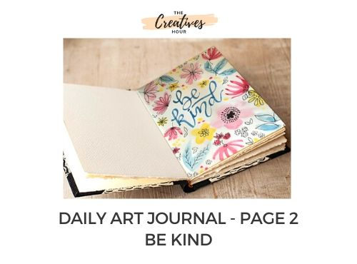 daily art journal be kind