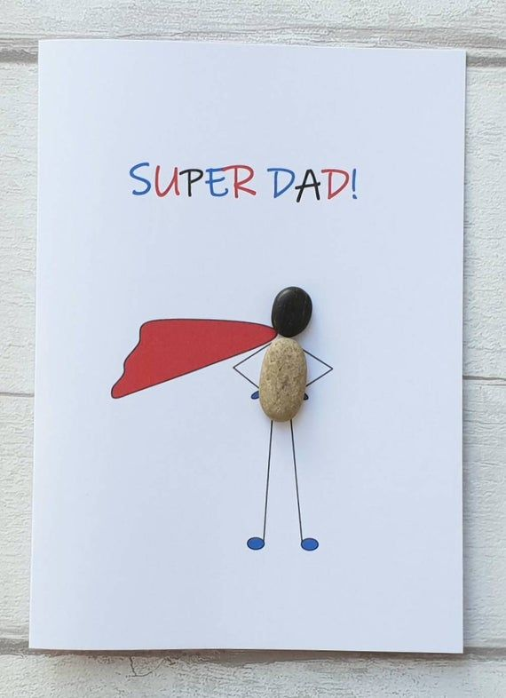 fathers day card made from pebble
