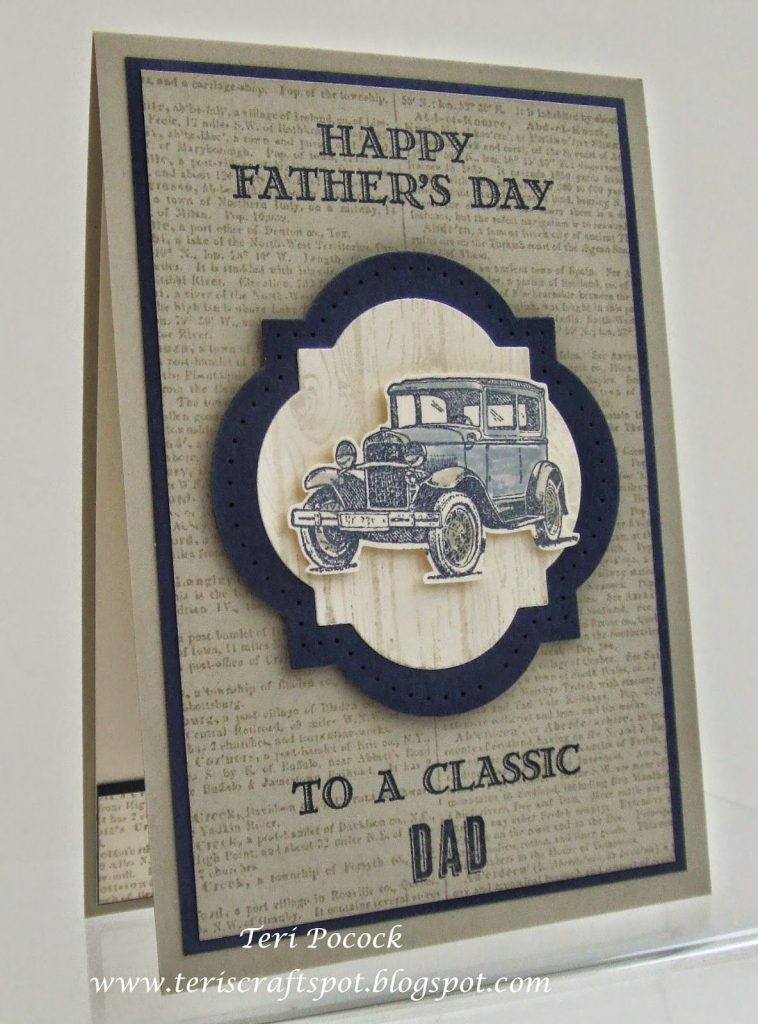 vintage fathers day card for a classic dad