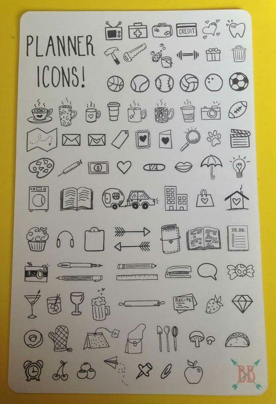 planner icons ideas