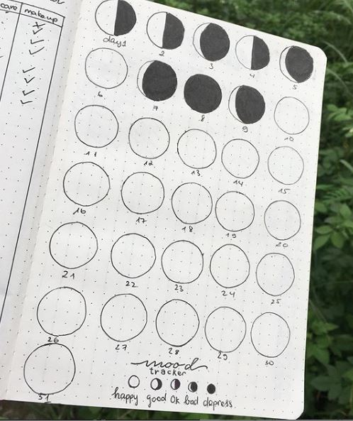 Phases Of The Moon Mood Tracker