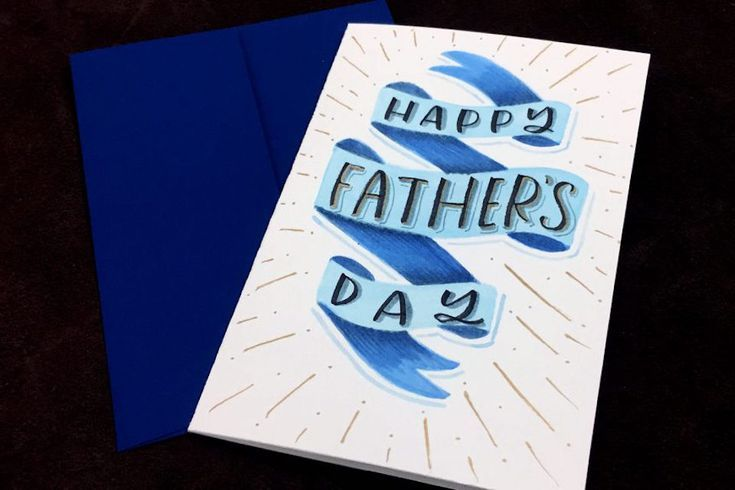simple ribbon card happy fathers day