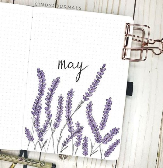 easy bullet journal cover page