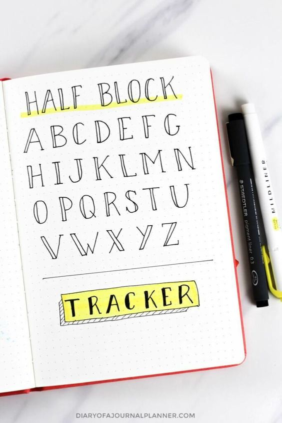 font ideas for planner