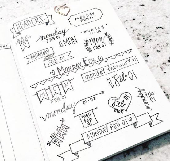 banners for bullet journal