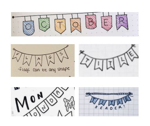 banner fonts for bullet journal
