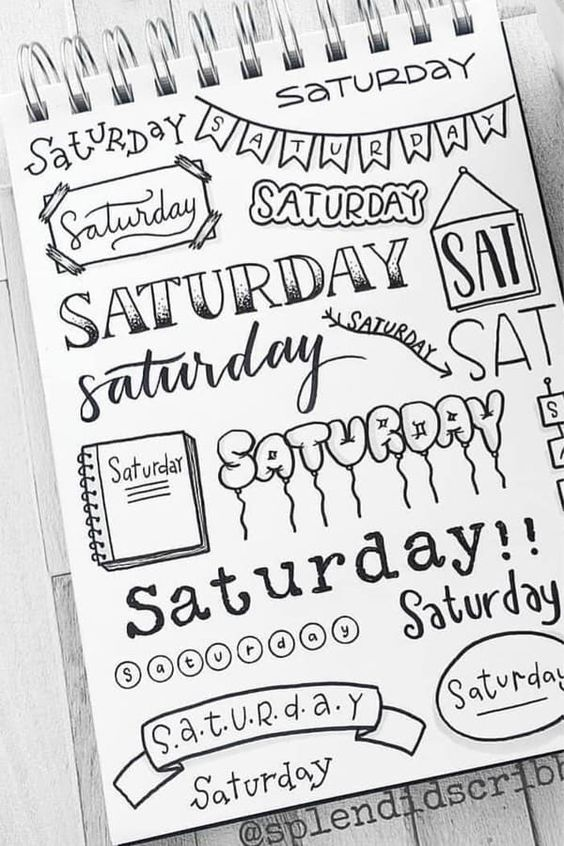 days of the week font