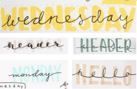 cute bullet journal fonts