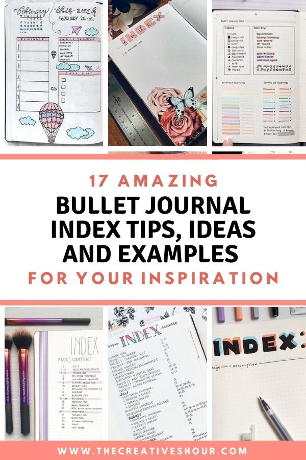 Bullet Journal Index Ideas