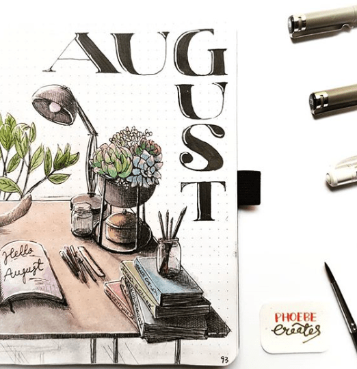 august cover page