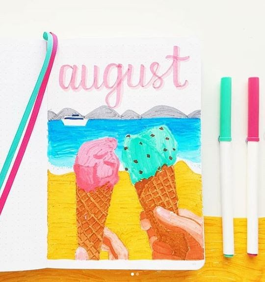 august bujo cover page