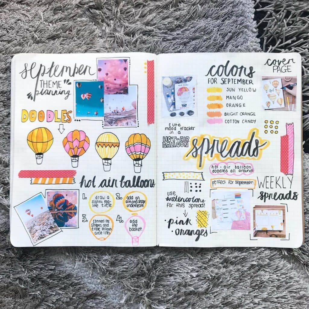 september bullet journal theme