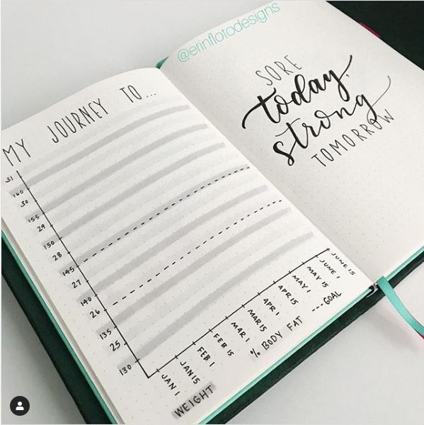 minimalist weight loss tracker