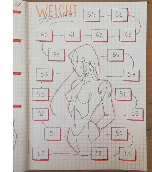 weight tracker bullet journal