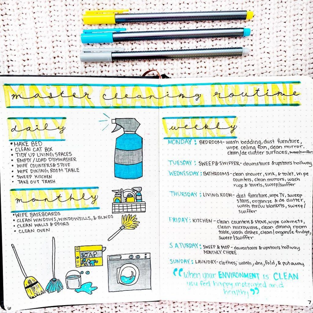 Bullet Journal Cleaning Spread 6