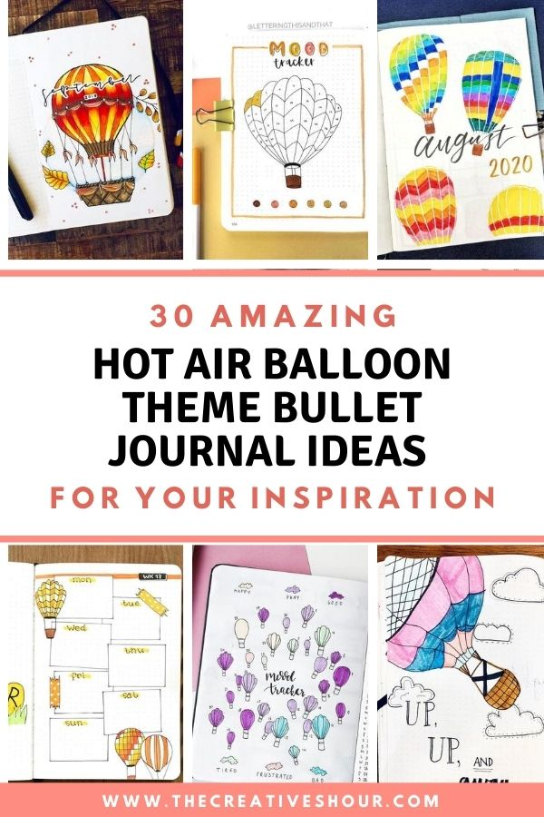 how air ballon bullet journal theme