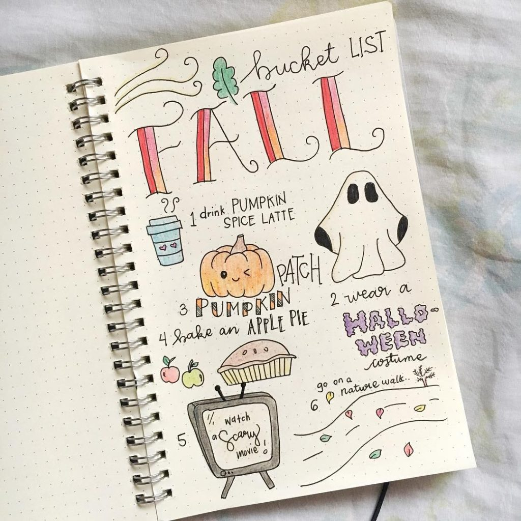 35 Fall Bullet Journal Ideas To Welcome The New Season The Creatives Hour