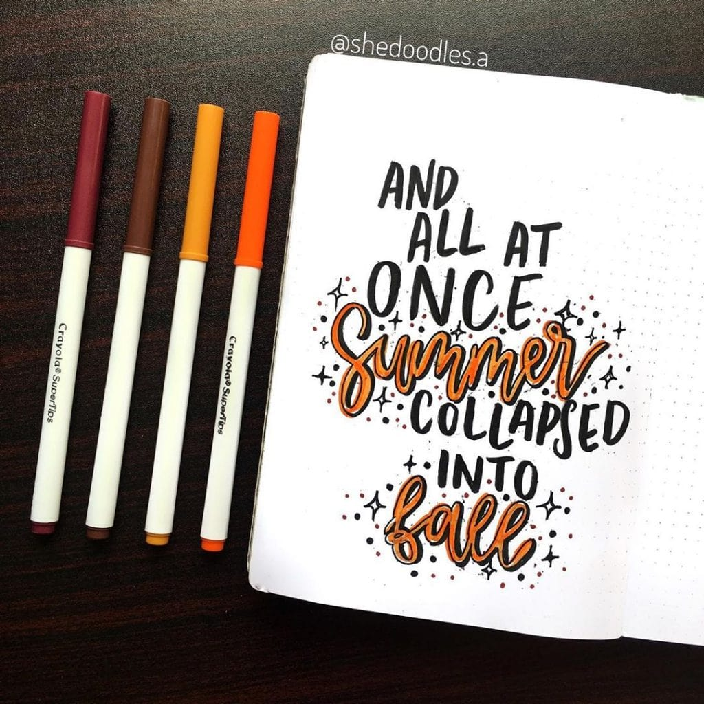 Bullet Journal Fall Theme Quote