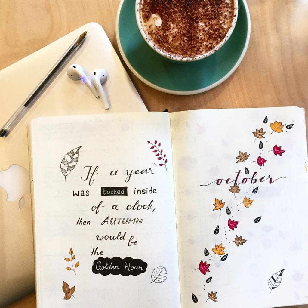 Bullet Journal Fall Theme Quote 2