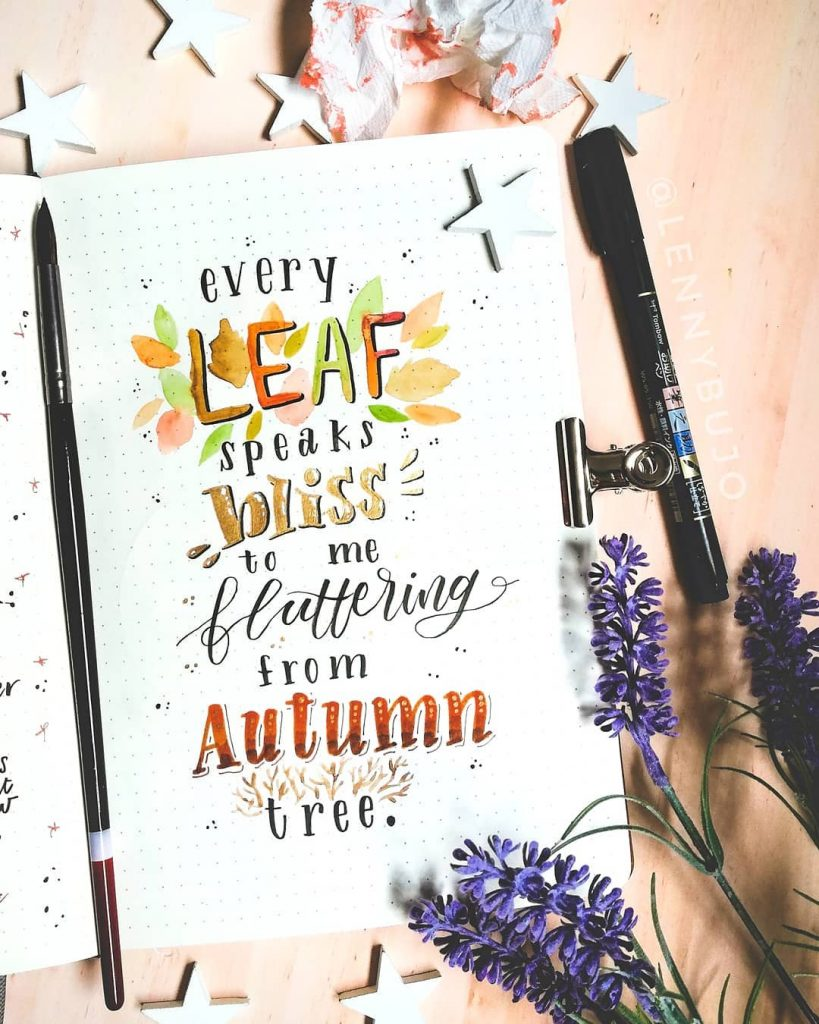 Bullet Journal Fall Theme Quote 3