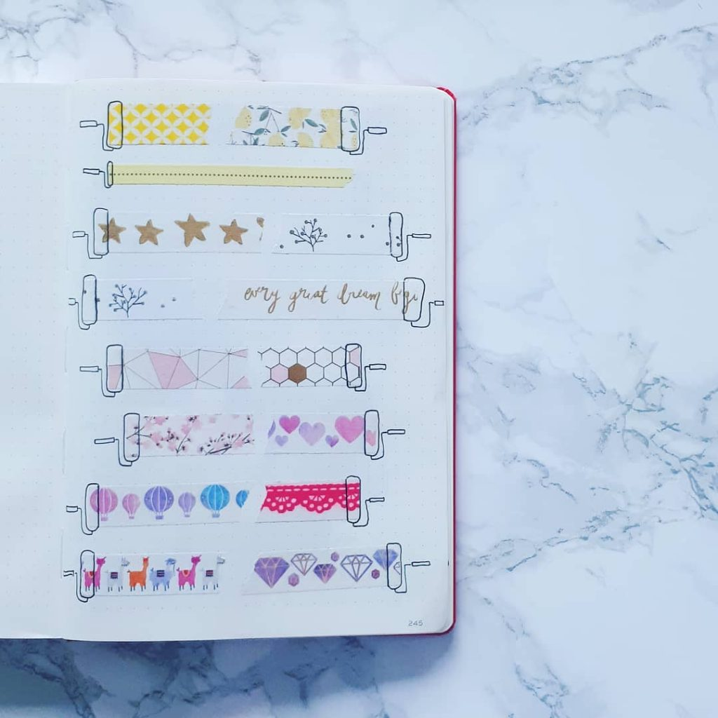 Washi Tape Swatches Page Ideas 1