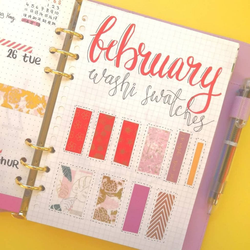 Washi Tape Swatches Page Ideas 2