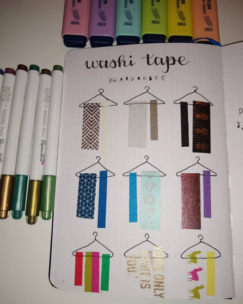 Washi Tape Swatches Page Ideas 7