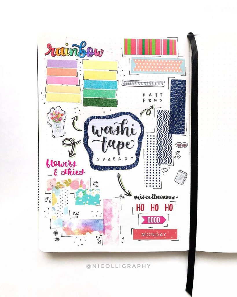 Washi Tape Swatches Page Ideas 9