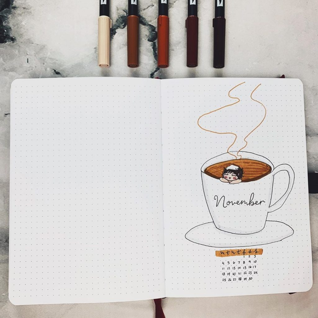 November Bullet Journal Cover Page 10