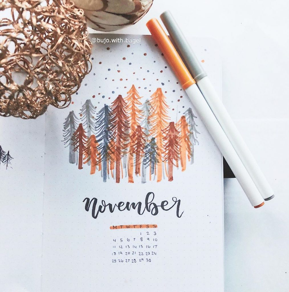 November Bullet Journal Cover Page 15