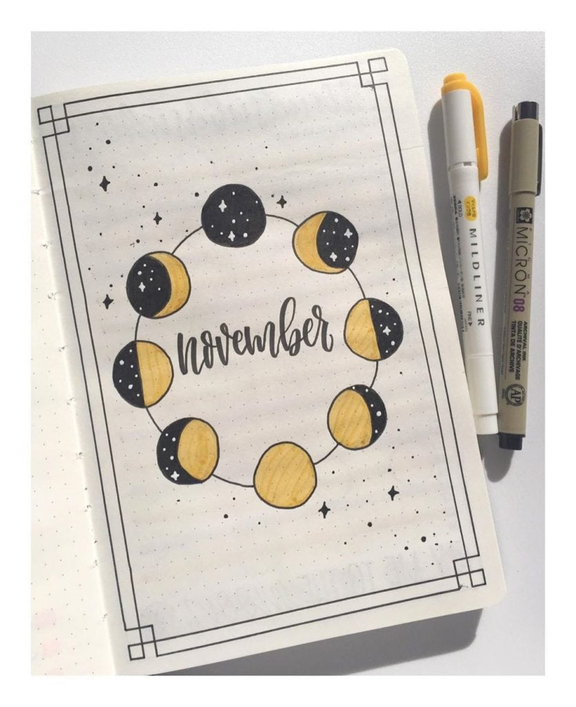 November Bullet Journal Cover Page 9