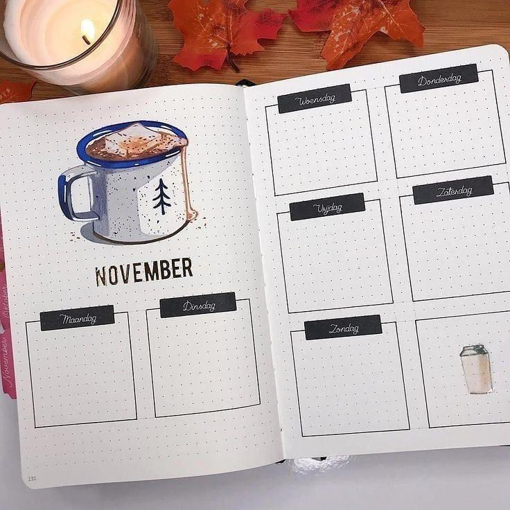 November Bullet Journal Weekly Spread 2