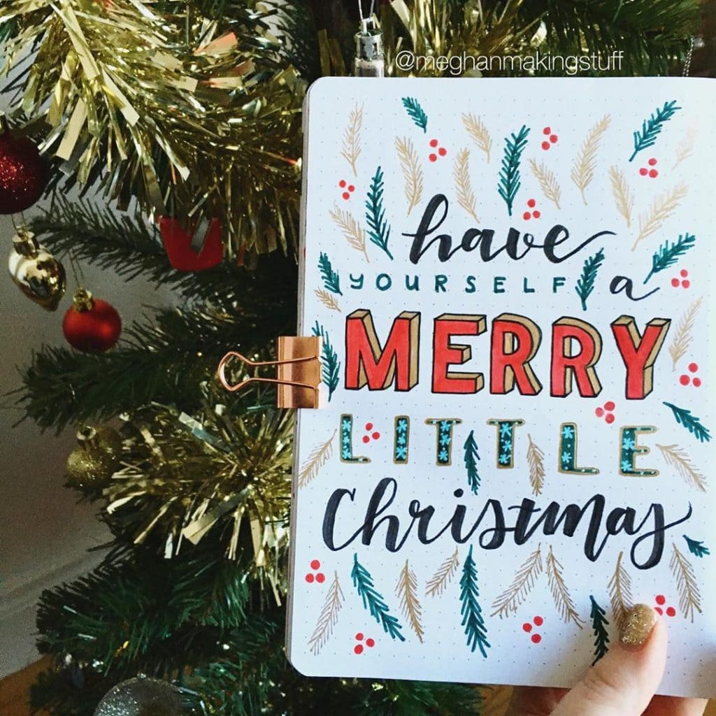 December Bullet Journal Christmas Quotes 2