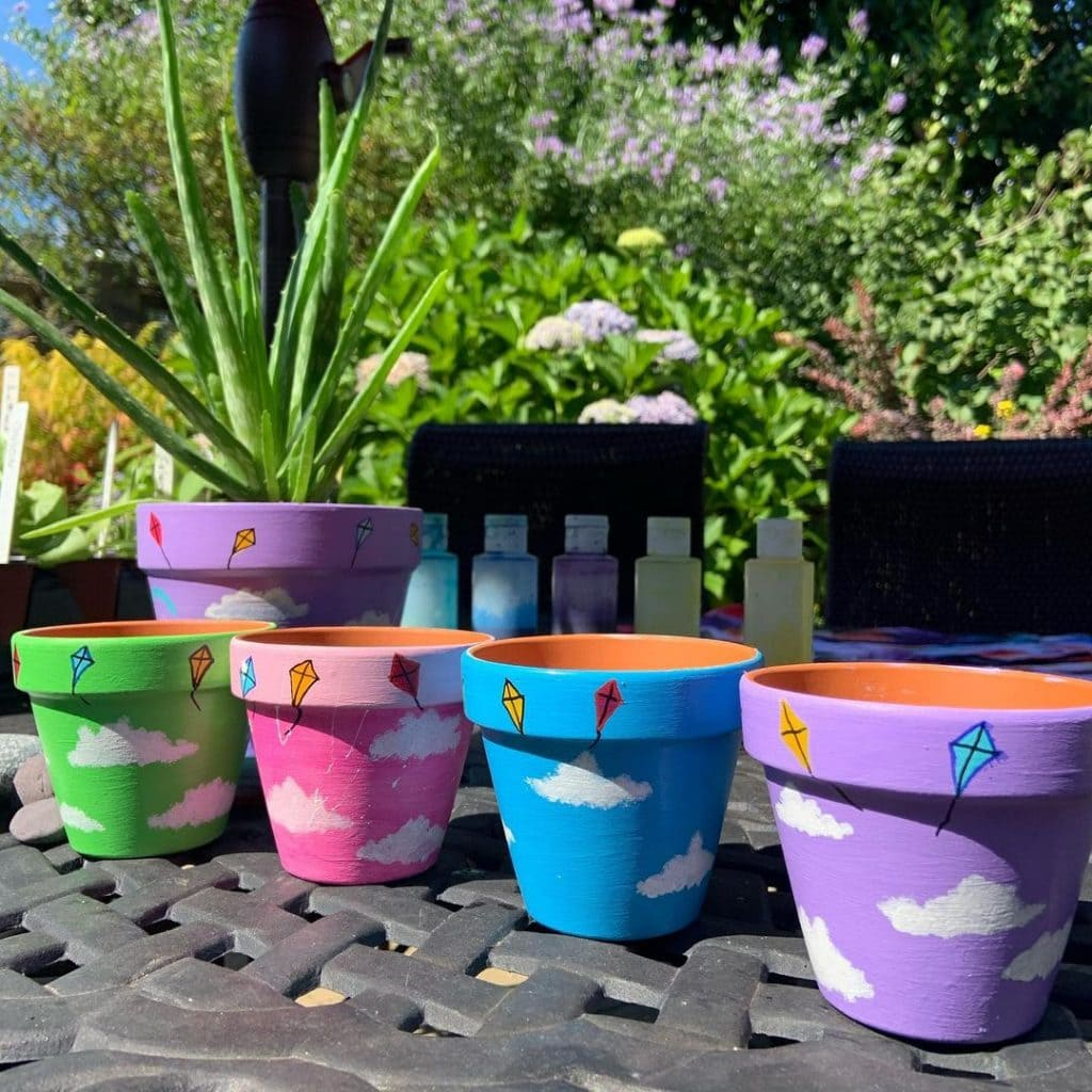 Other creative hand painted pot ideas 1