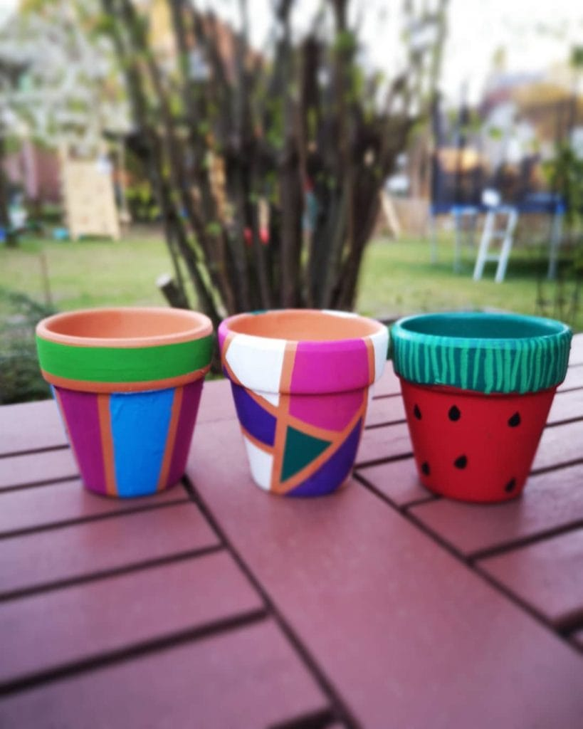 Painted Flower Pots Abstract Pattern 11