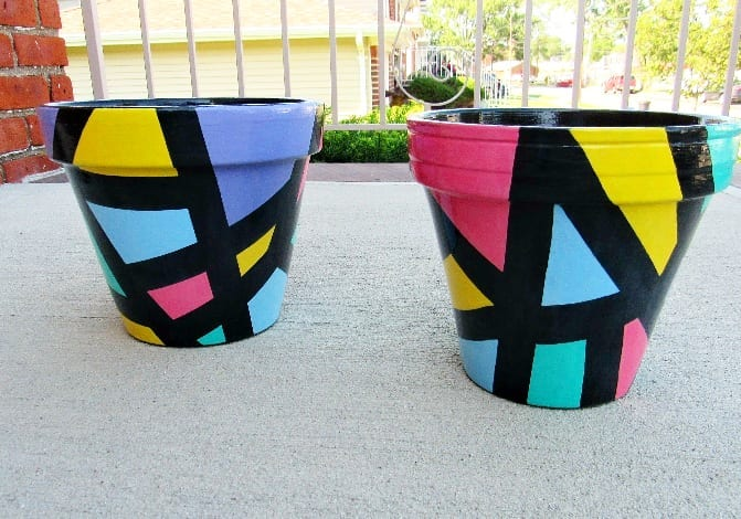 Painted Flower Pots Abstract Pattern 12