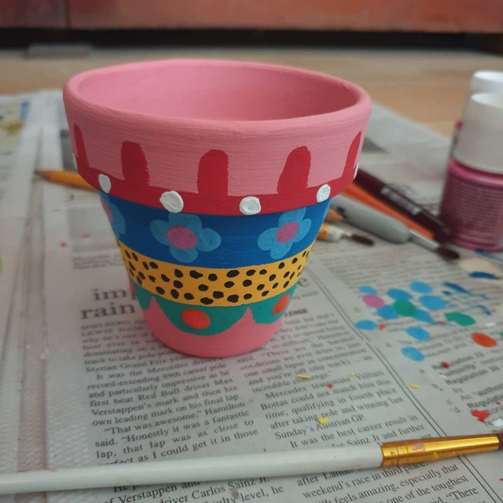 Painted Flower Pots Abstract Pattern 5