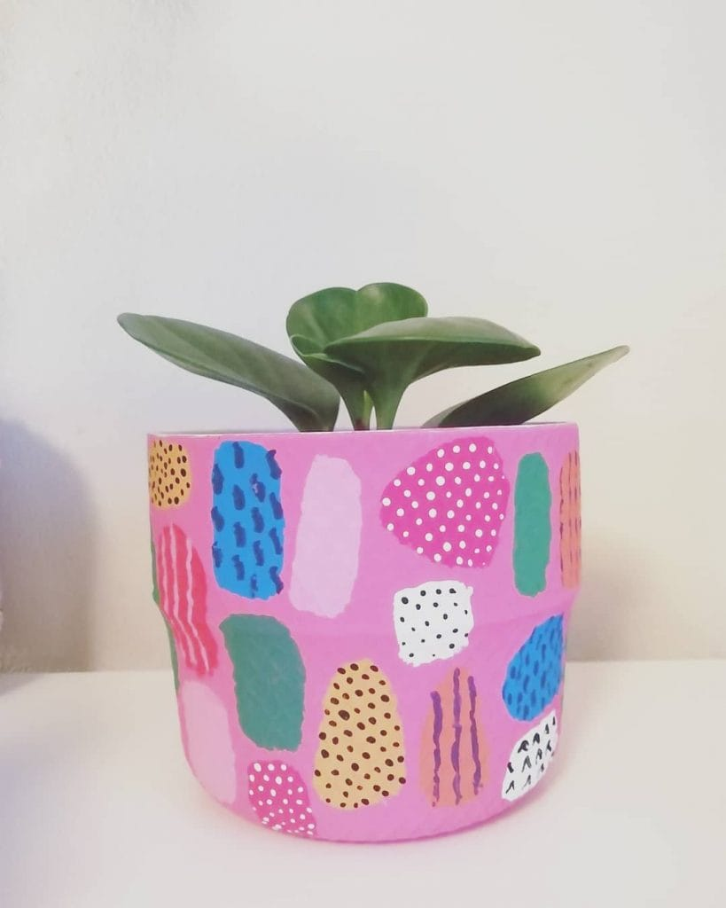 Painted Flower Pots Abstract Pattern 9