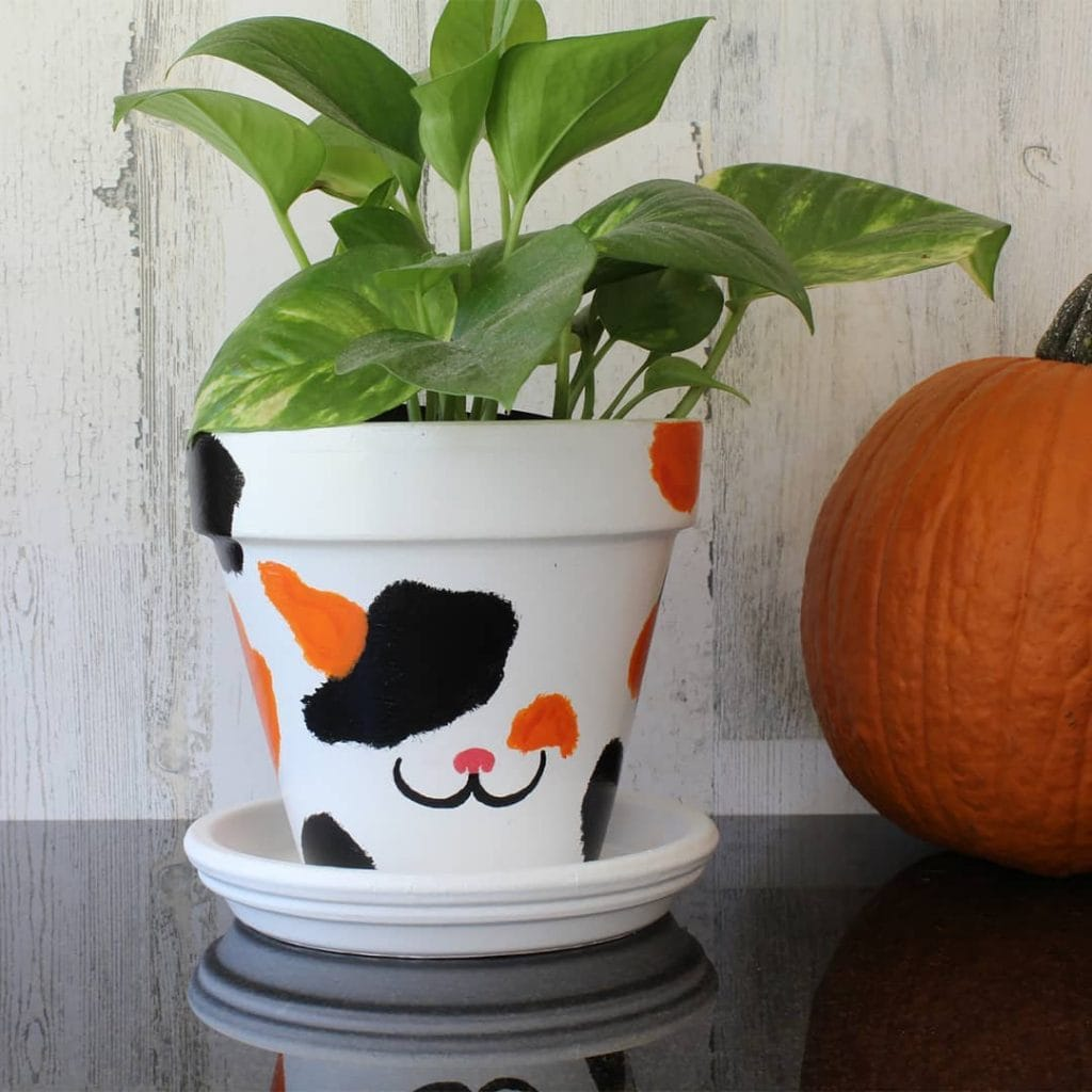 Painted Flower Pots Animal Pattern 1