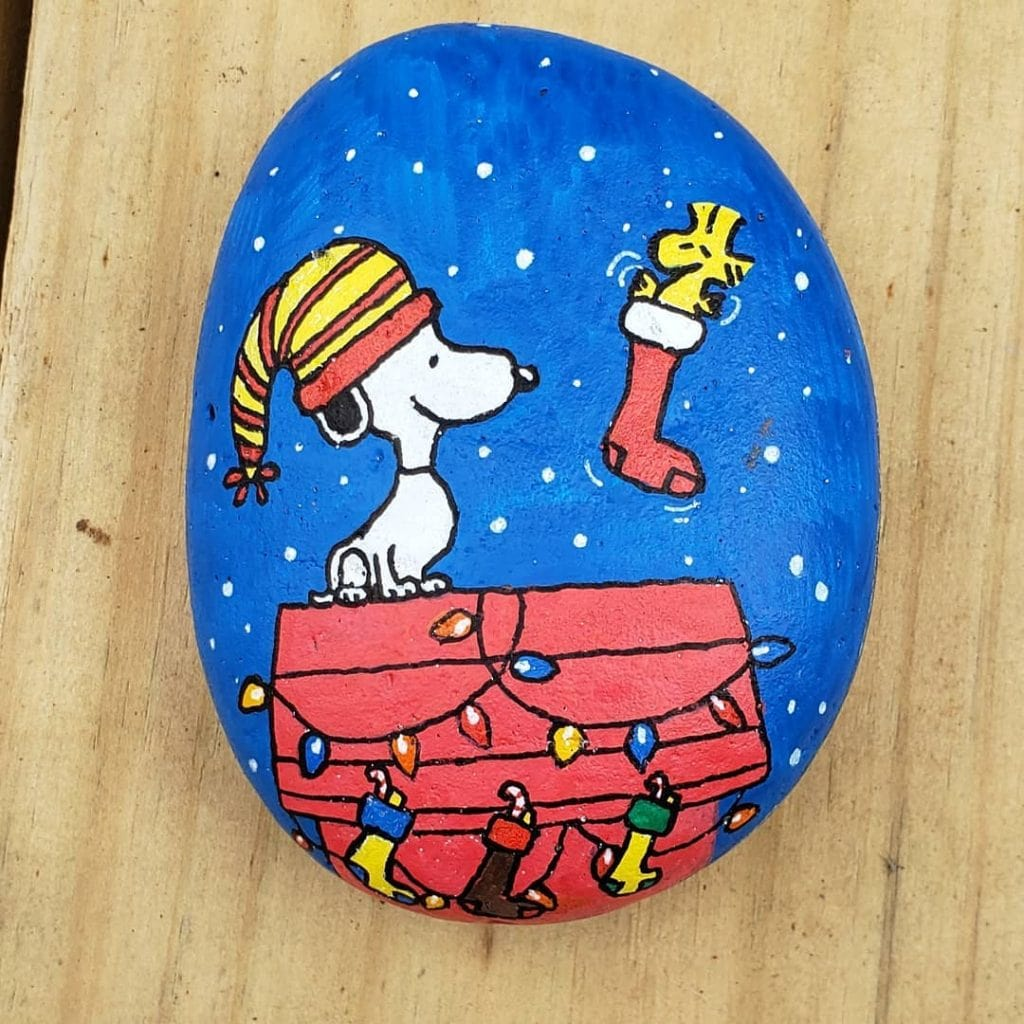 Rock Painting Ideas Characters and Cartoons 2