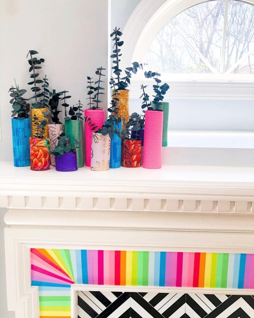 Toilet Paper Roll Crafts Decor 1